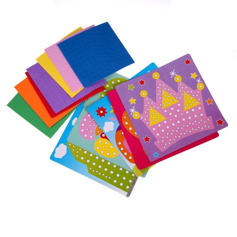 Hot-Creative-3D-Mosaics-Sticker-Game-AnimalsTransport-Arts-Craft-Puzzle-for-Kids-EVA-Educational-Toy-DIY-Model-Building-Toys-1