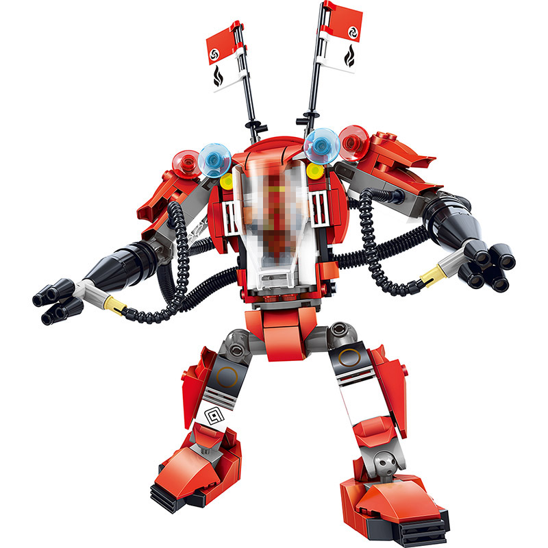 289CS NEW Ninjago Series Best Technic Building Blocks Kai's Red Armor Battle Droid Compatible ...