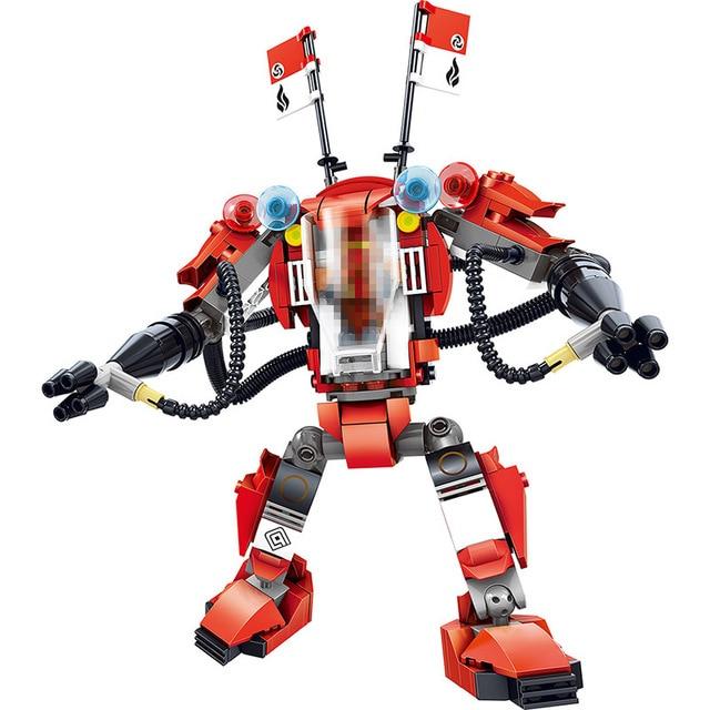 289cs new ninjago series best technic building blocks kais red armor battle droid compatible legoinglys robot - Ninjago Rouge