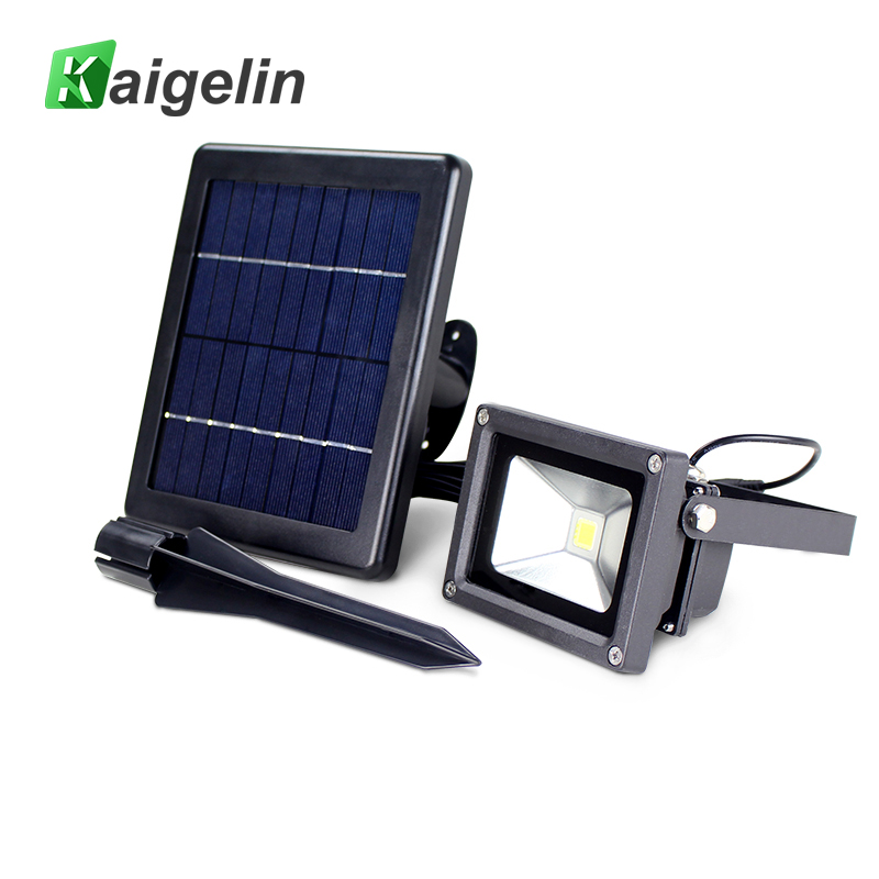 Kaigelin COB LED Solar Flood Light Garden Landscape Projector Security Wall Lamp Waterproof LED Flood Light For Outdoor Lighting 4pc lot dhlfedex led light 30w led wall washer wash lamp garden park landscape lines square flood outdoor estadio building light