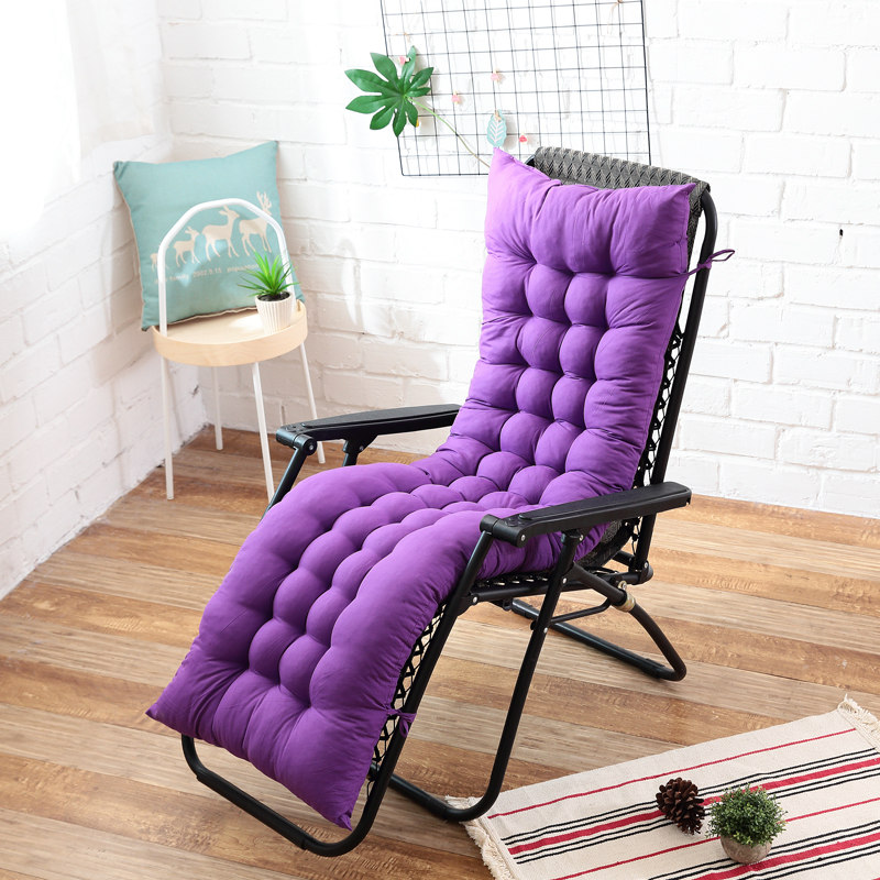 US $10.19 49% OFF|Long cushion reclining chairs Foldable Thicken Chair Cushion Garden chair cushion Window Floor Mat Double sided Tatami mat|Cushion|