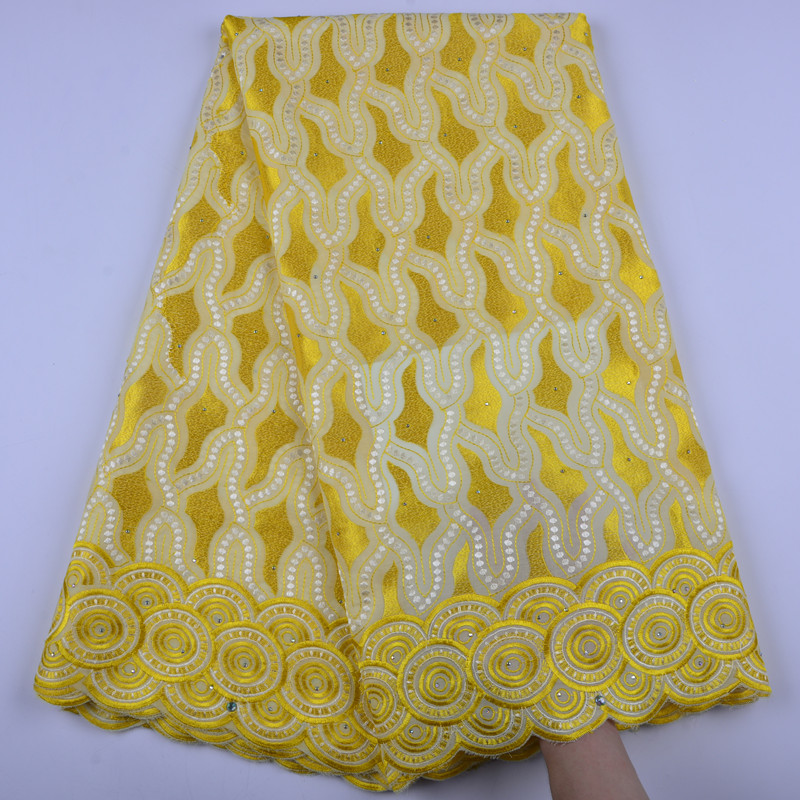 High Quality Yellow Swiss Voile Lace 2018 African Voile Swiss Lace Fabric African Swiss Cotton Voile