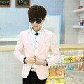 Мода Повседневная Куртка Бархат Черный Блейзер Slim Fit Masculino Мужские Вечернее Платье Куртки Пальто Формальных Пальто Розовый Черный 302