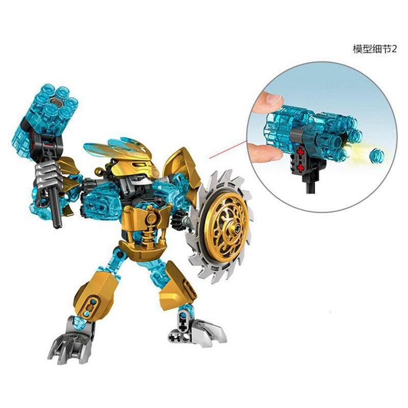 Image 4 - BIONICLE Mask Maker vs. Skull Grinder Biochemical Warrior Building Block set  Robot Model Bricks Compatible with 70795 Kids Toys-in Blocks from Toys & Hobbies