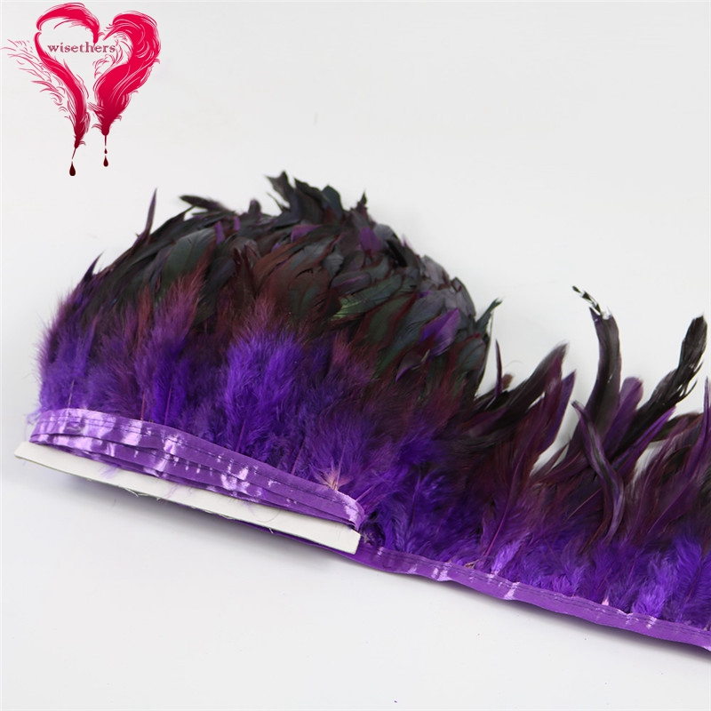 10 purple rooster feather trims 4
