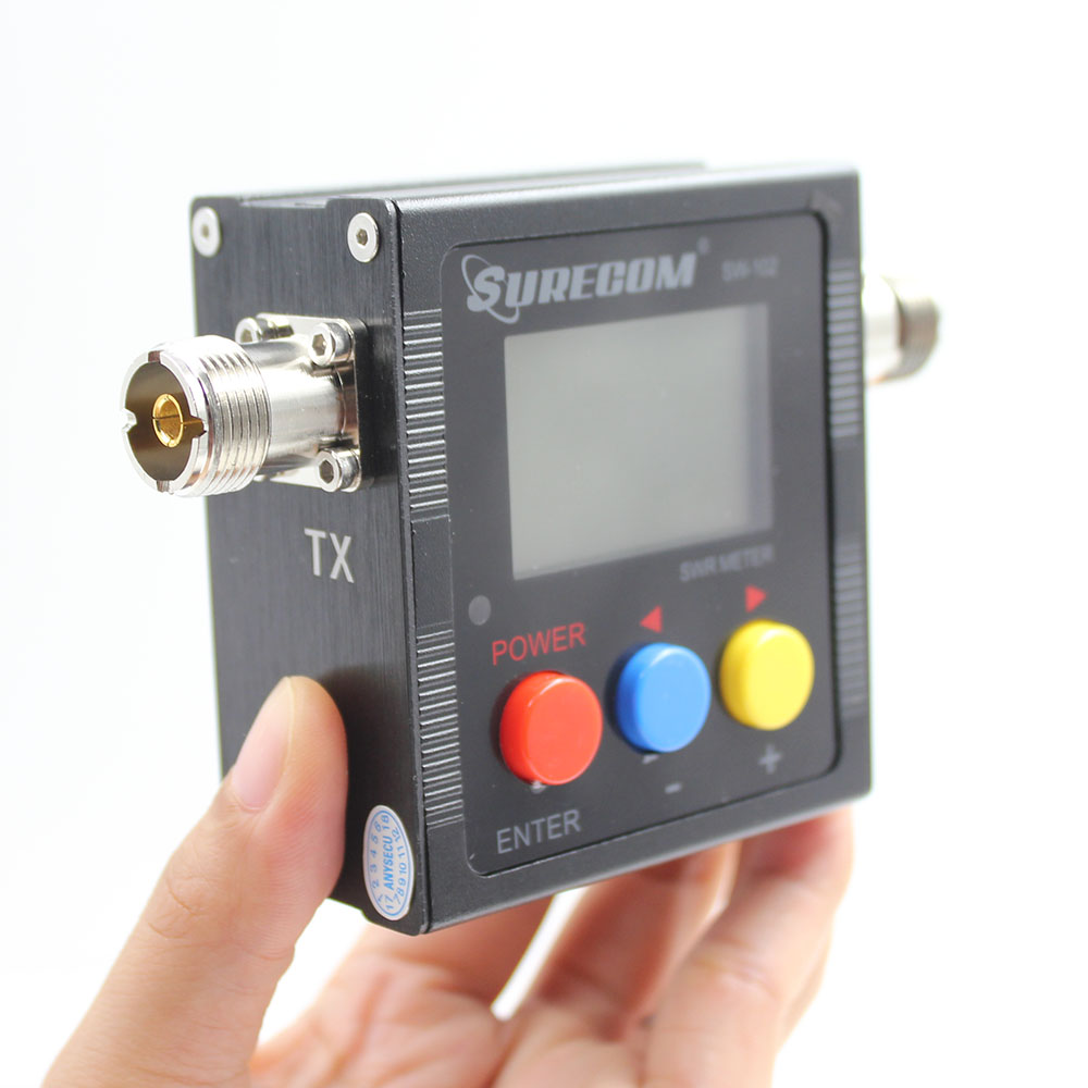 Image 3 - Upgrade version Surecom SW 102 125 525Mhz VHF/UHF Antenna Power & SWR Meter+SMA M& SMA F connector not for DMR system-in Walkie Talkie from Cellphones & Telecommunications