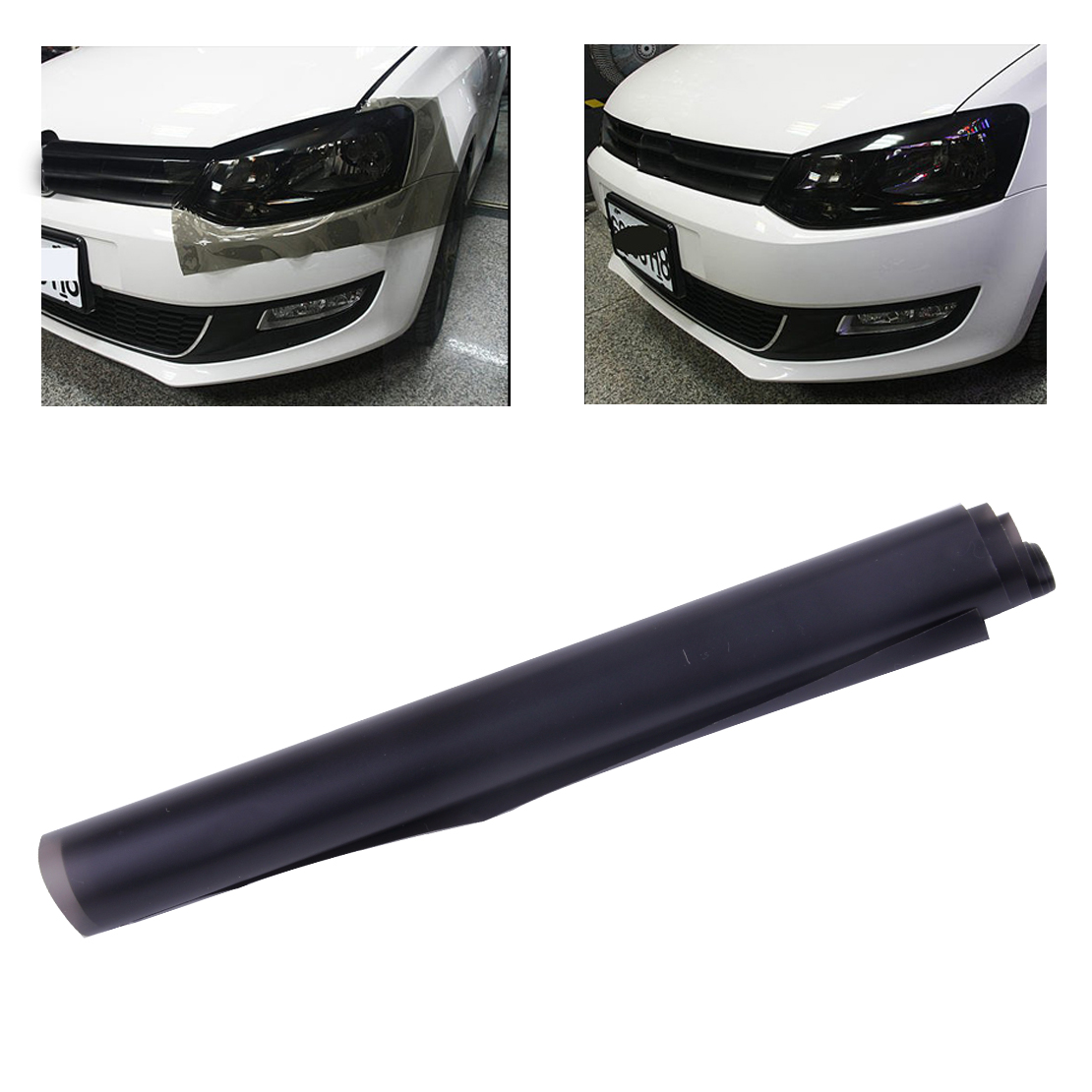 CITALL 30x100CM Matt Black Tail Light Film Tint Taillight Headlight Rear Lamp Smoked Tinting Film Matt Smoke Film Cover Decal