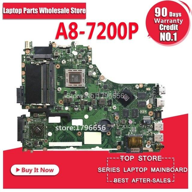 X550ZE laptop Motherboard For ASUS K555Z A555Z X555Z K550Z X550ZE Mainboard Motherboard test 100% ok A8-7200P 2.4 GHZ 4 coresX550ZE laptop Motherboard For ASUS K555Z A555Z X555Z K550Z X550ZE Mainboard Motherboard test 100% ok A8-7200P 2.4 GHZ 4 cores