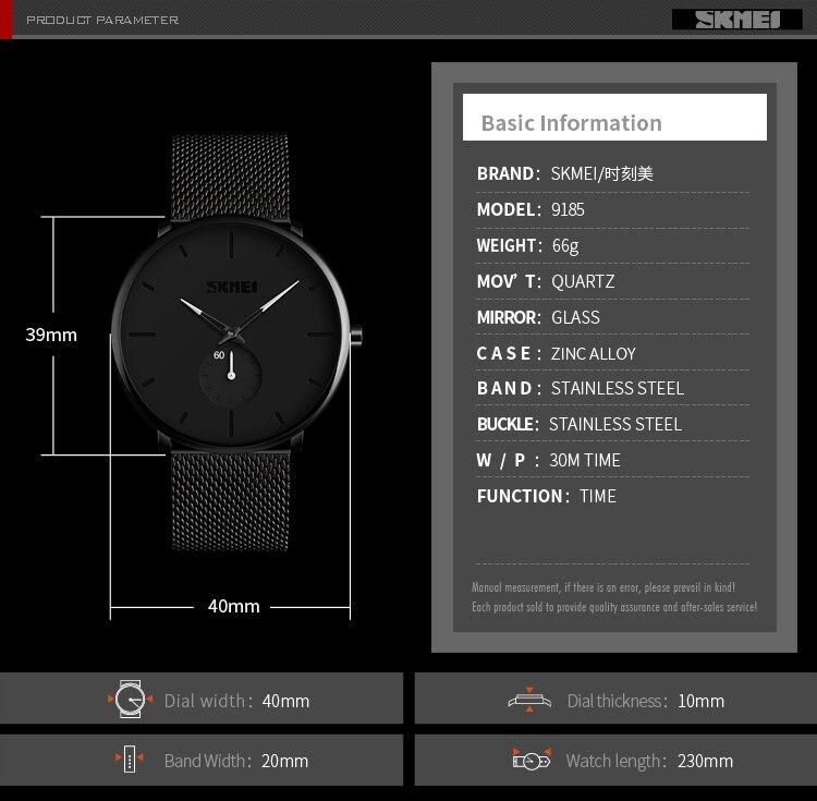 SKMEI Fashion Men Quartz Watch Children Digital Watch Big Dial Waterproof Parent-child Watches relogio masculino 9185 1455 Set 7