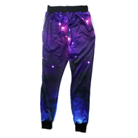 2016 New Fashion Spring Summer Mens Clothing Athletic Jogging Hip Hop Dance Sports Trousers Galaxy Casual