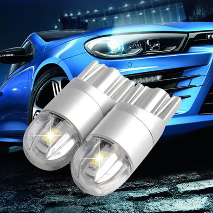 2X  Car design T10 W5W  LED 2825 168 194 3030 3014 501  SMD 6000K White light vehicle logo wedge  light car parking lot  DC 12V