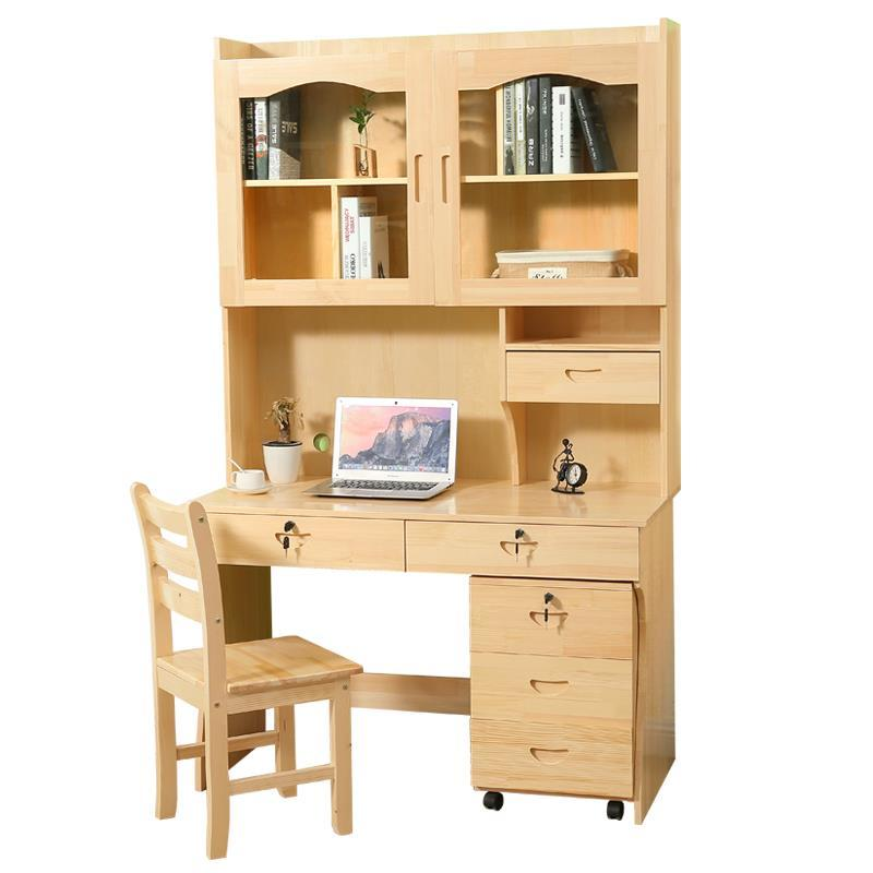 computer with desk-style home children's learning Wooden student desk bookshelf combination objective ielts advanced student s book with cd rom