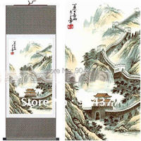 Chinese Silk Paintings Wall Scrolls Art size L 40 x 12 inch 1piece Free shipping