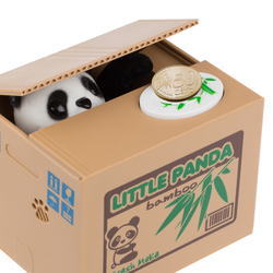 Guaranteed 100 hucha panda money box panda cute panda automatic stole coin piggy bank money saving.jpg 250x250