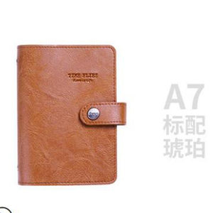 Image 4 - Yiwi A7 PU Leather Loose leaf Planner  Pink Green Black Binder Spiral Vintage Diary  Notebook