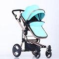 Carrinho de alta paisagem pode sentar-se ou deitar quatro bidirecional choque carrinho de bebê carrinho de dobrado bb