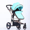 High landscape stroller can sit or lie four bidirectional shock stroller baby stroller folded bb