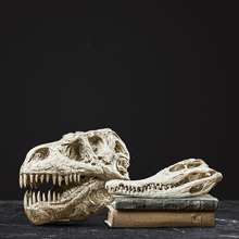 Artificial Animal Skull Dinosaur Fossil Loft Decor Home Accessories for Living Room Desk Decoration Study Showcase Ornaments
