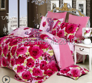 2014 winter thickening coral fleece flannel duvet cover Reactive Printing BEDDING Bedding Set pillowcase queen king size - Natali Colthes Co.,LTD store