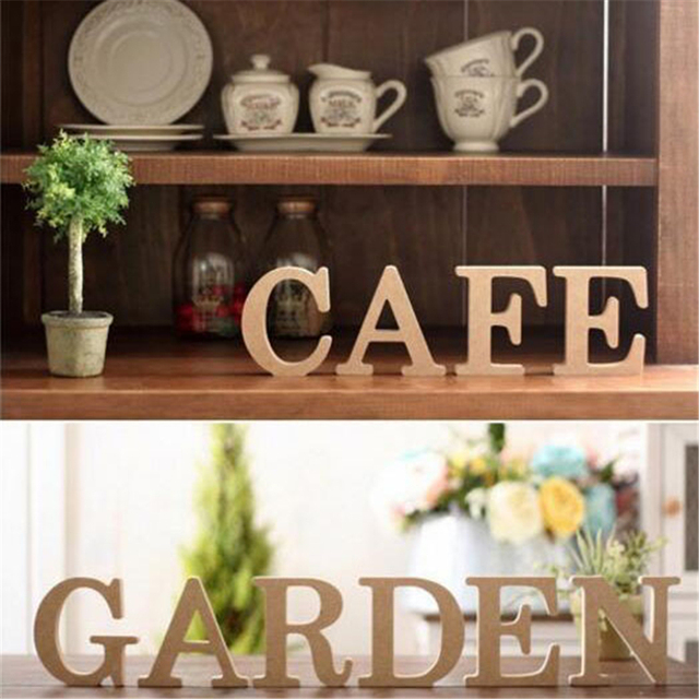 1Pc 10x1.5cm (thick) Wood Wooden Letters For Wedding Party Decoration Wedding Favors Birthday Party Supplies For Home Decor