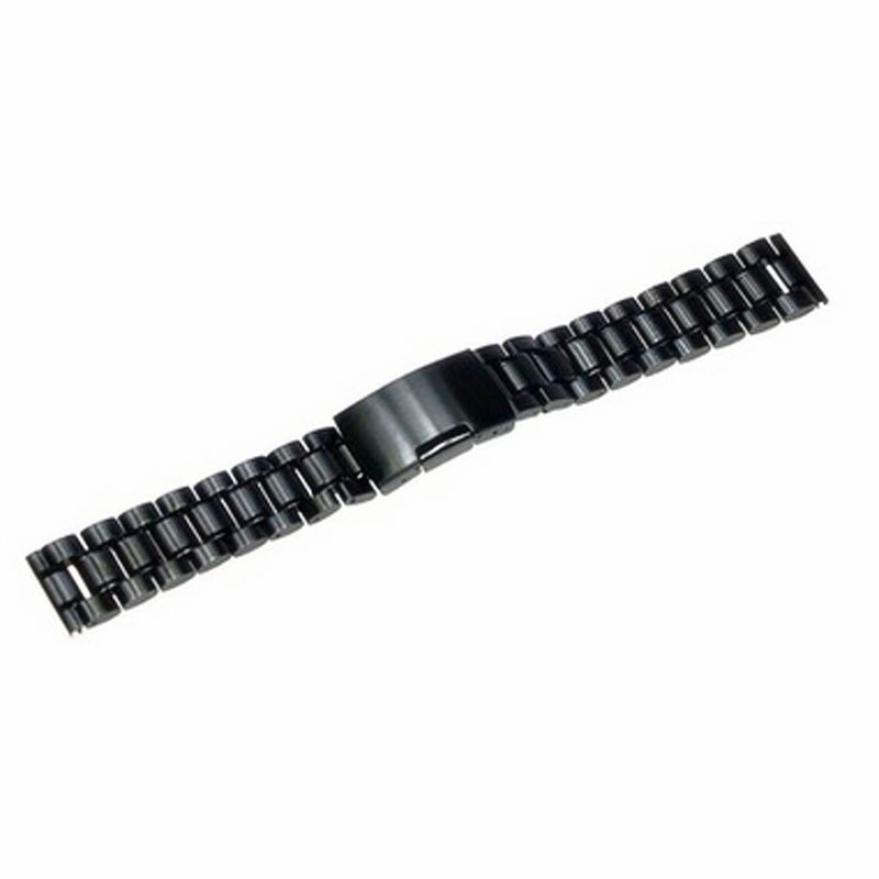 Moment # L05 High Quality 2018 Stainless Steel Black 18MM 20MM 22MM Bracelet Unisex Watch Band Strap Straight End Solid Links top quality new stainless steel strap 18mm 13mm flat straight end metal bracelet watch band silver gold watchband for brand