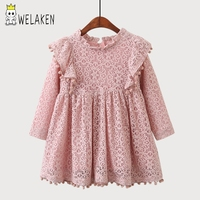 WeLaken 2018 New Fashion Girl S Dress Cute Floral Pattern Kids Baby Toddler Outwear Spring Autumn