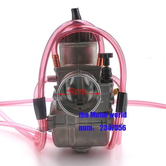 US $41 85 9% OFF|Free shipping keihin carburetor Carburador 42 mm with  power jet case for honda yamaha racing motor-in Carburetor from Automobiles  &