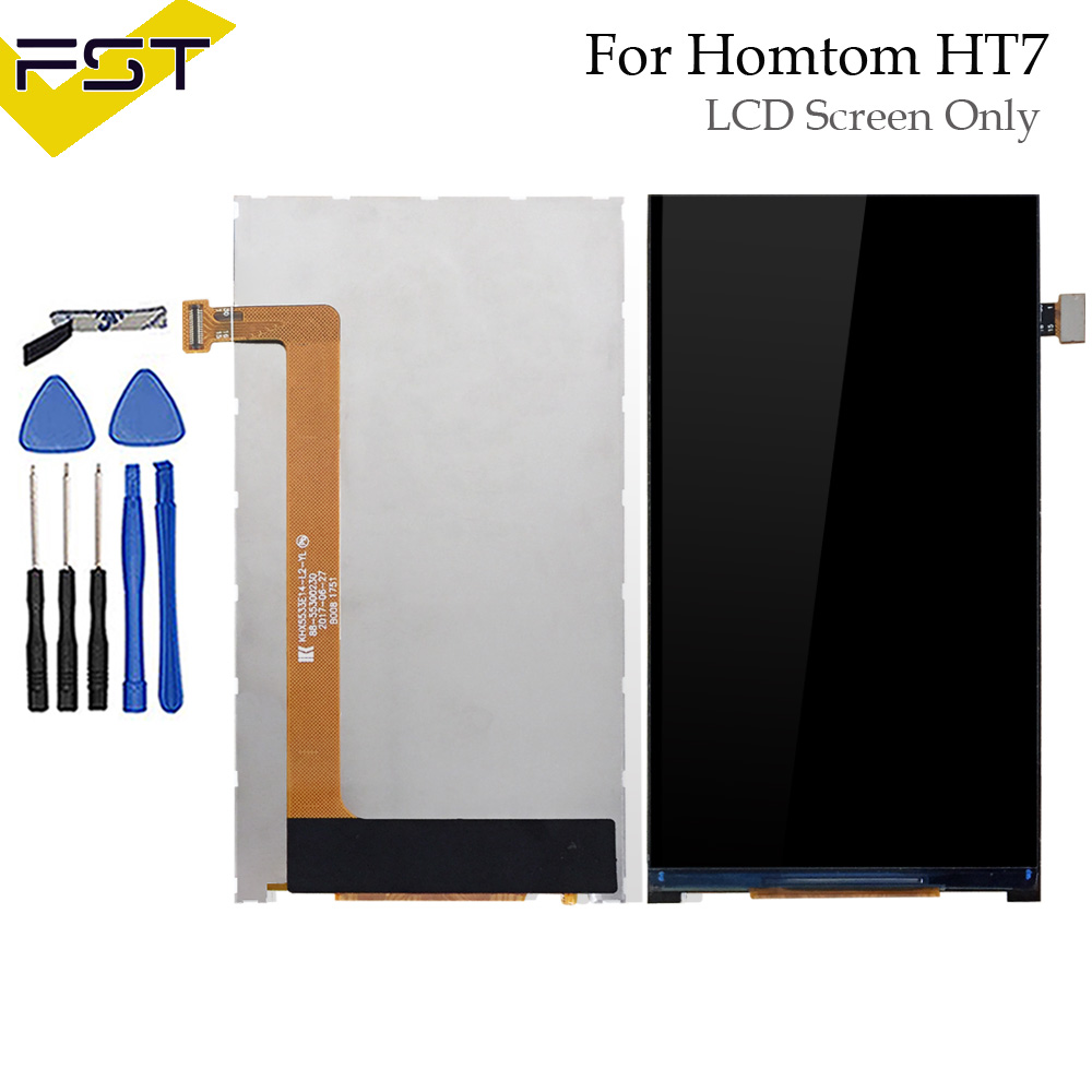 High Quality For HOMTOM HT7 LCD Display Screen (without touchscreen) For HOMTOM ht 7 KHX5533E14-L2-YL+Track Number and Tools