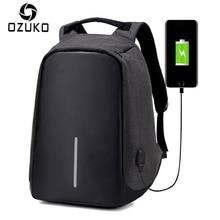 Ozuko Мода 2017 г. Anti-Theft USB зарядки мужчины ноутбук рюкзак женщины Mochila Многофункциональный Повседневная Путешествия Школа Рюкзаки сумка