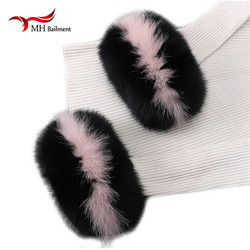 Fox fur Cuffs Hot Sale Wrist Warmer Genuine Fox Fur Cuff Arm Warmer Bracelet Real arm warmers women tattoo sleeve men X#4