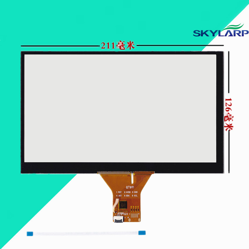 New 9 Capacitive Touch Panel 211x126mm for 1024x600 GPS Android Handwriting Screen Screen touch panel Glass Free shipping 10pcs lot free shipping new tf0304a ty touch screen handwriting screen external screen capacitive screen