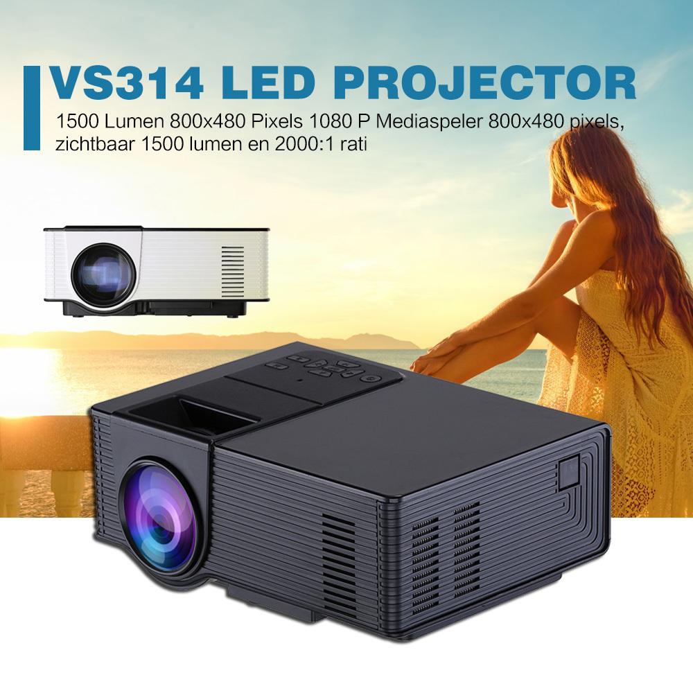 Prix pour VS314 Projecteur 1500 Lumens Soutien 1920x1080 P Analogique TV LED Projecteur MINI Projecteur pour Home Cinéma Numérique TV UC40 UC46