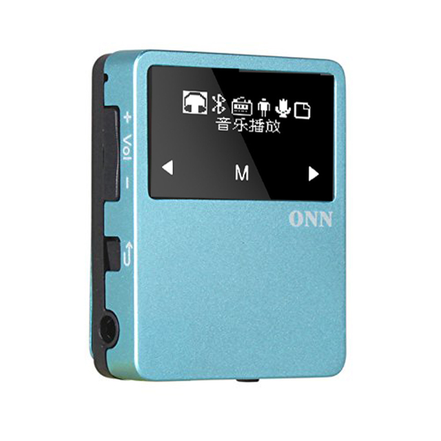 ONN X1 Super Back Clip Mini MP3 sport Music HiFi Player 8GB multi-language Bluetooth 4.2 FM Radio HD Record Pedometer