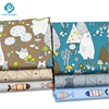 Mensugen Cartoon Bear Fish Twill Cotton Fabric Meters for Sewing Baby Crib Bumper Cloth Bed Sheet Blanket Pillows Sewing Tissue