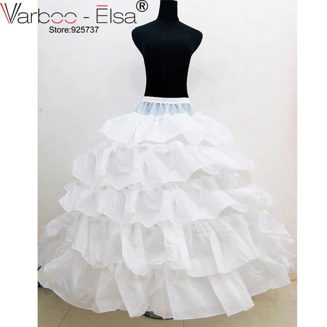 enaguas para vestidos de novia barato de cinco capas de volantes