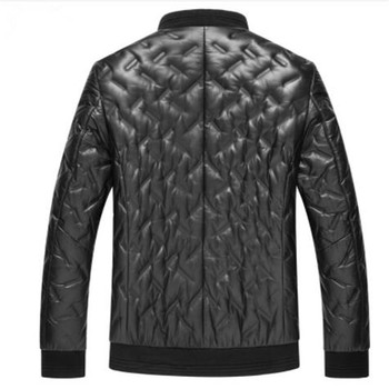 2019 new arrival winter high quality sheepskin white duck down jackets men,men's real leather coat
