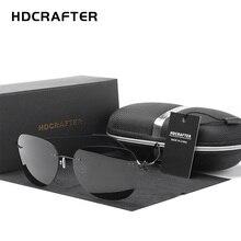 HDCRAFTER gafas de sol ultralivianas para hombre y mujer, anteojos de sol unisex de titanio, de marca de diseñador, sin marco, polarizadas, sin tornillos, 9g