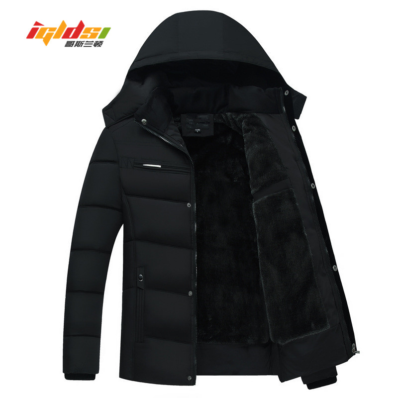 Men's Winter Jackets Coats Fleece Down   Parkas   New 2018 Casual Hooded Coats Men Outerwear Thick Cotton Warm Down Jacket Male 4XL