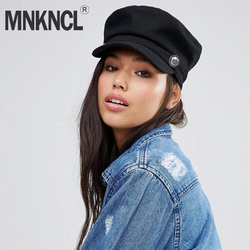 MNKNCL 2018 nueva moda negro sombrero de las mujeres de calle Casual planos  de cuerda de f86b8bc3738