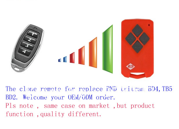 compatible with Red B&D TriTran,TB5,TB-5,BD4,B&D BD2 062730 Garage Remote BD-2 TRITRAN