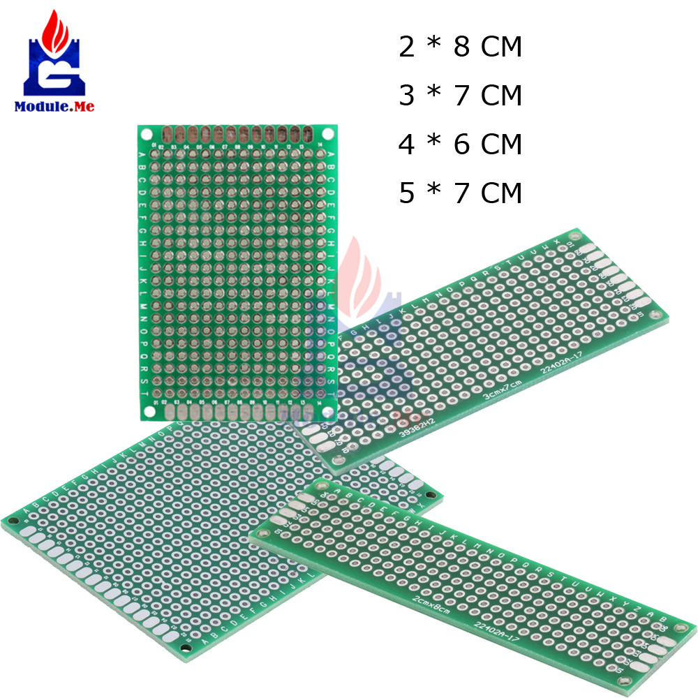 Single Side Prototype Pcb Tinned Universal Breadboard Cmx9cm 50 Circuit Panel Solder Diy 50x70 Board 4pcs Double Bread 5x7 4x6 3x7 2x8cm Each 1pcs Fr4
