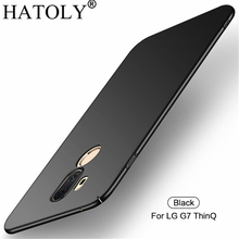 hot deal buy for smooth cover lg g7 thinq case for lg g7 thinq ultra-thin hard pc protective back case for lg g7 thinq free shipping hatoly