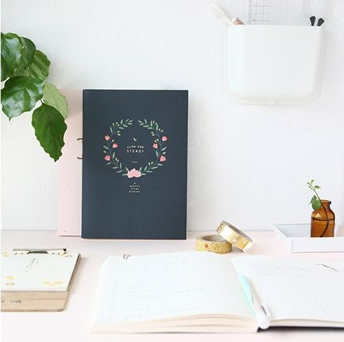 Floral design 6 months study planner 14.8*21cm 176 pages girls gift school office supplies tms320f28335 tms320f28335ptpq lqfp 176