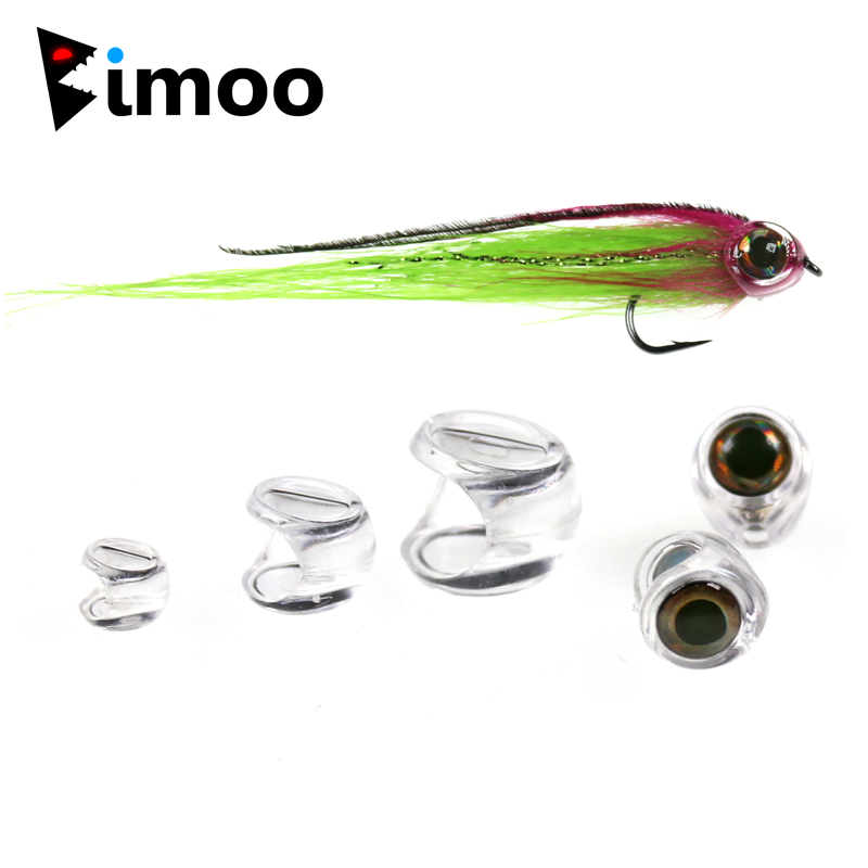 Bimoo 10PCS Fish Head for Streamer Flies Fly Fishing Bait Lure Fly Tying Material Size #4 #6 #8 wifreo 1pack 30cm crimped kinky minnow fiber streamer fly fibers bucktail jig head tying material for fly fishing bass lure
