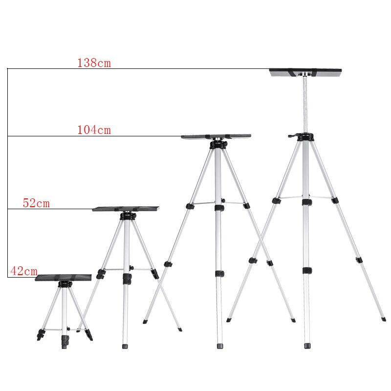 SOMITA 618 soporte de proyector de aleación de aluminio portátil trípode proyector de aterrizaje telescópico trípode bandeja cd50 - 6