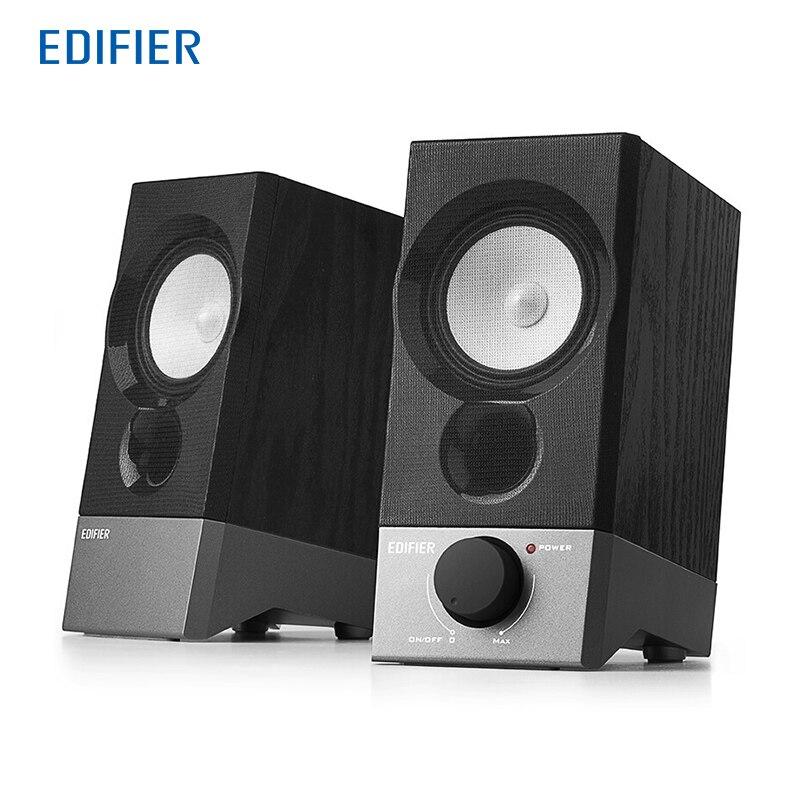 EDIFIER R19U Altoparlante Mini Portatile Piccolo Disegno di Elevazione Bella Basso Stress Computer di Alta Qualità Studio Monitor Speaker