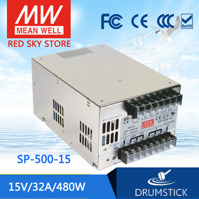 цена на MEAN WELL SP-500-15 15V 32A meanwell SP-500 500.4W Single Output with PFC Function Power Supply