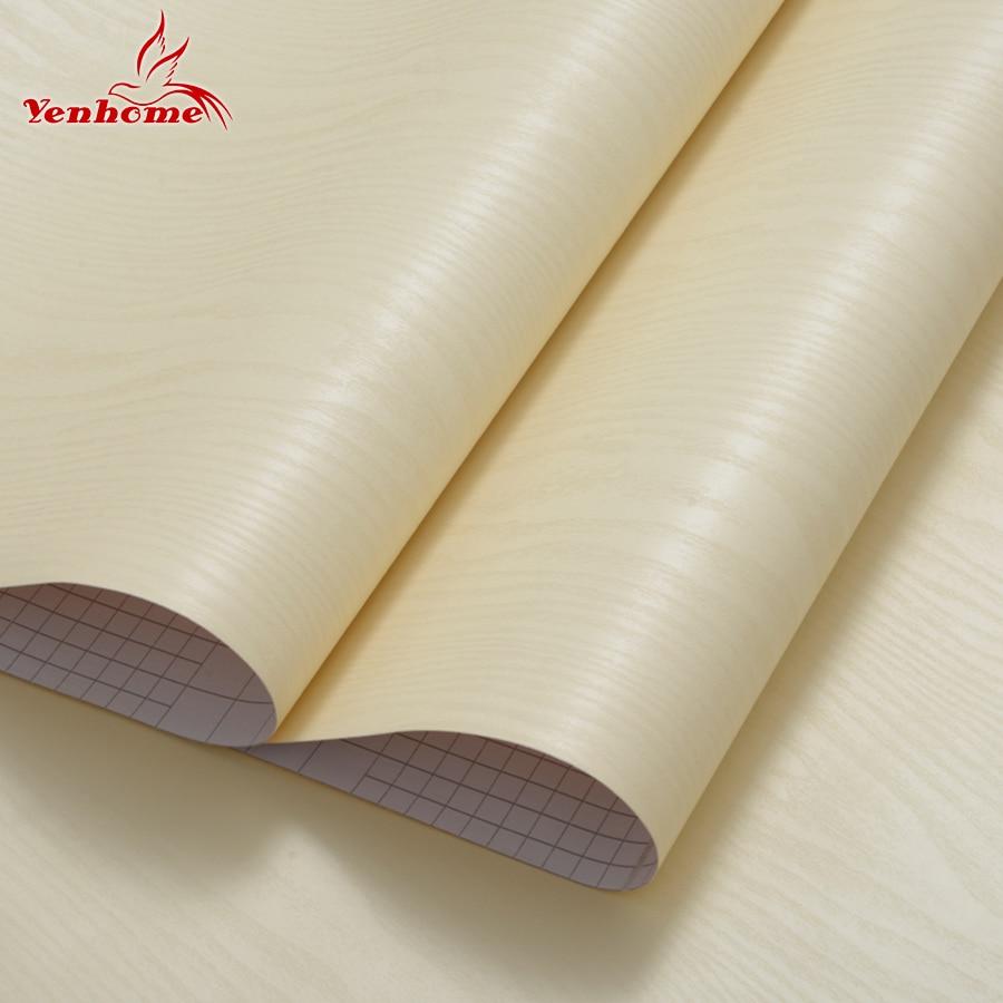 3M PVC Vinyl dekorativ film Träkorn Kontaktpapper Självhäftande - Heminredning