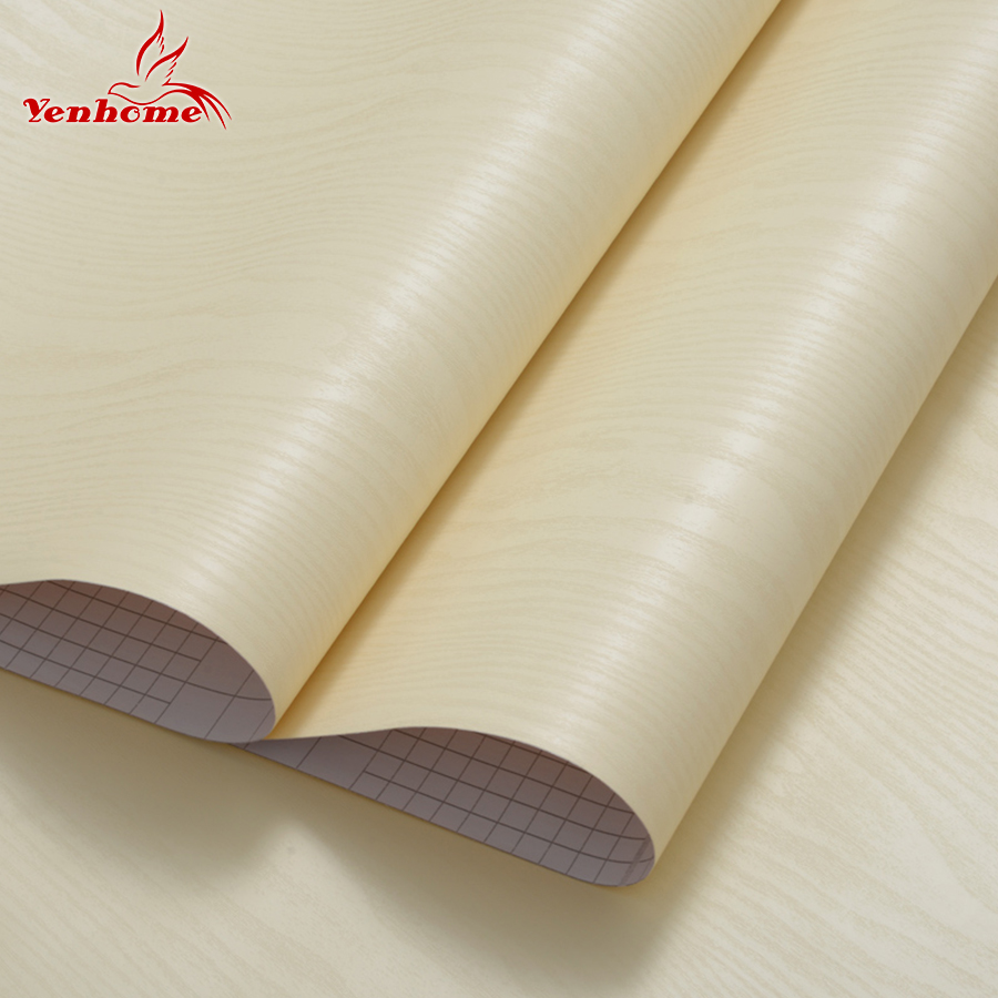 3M Thick Decorative Films Modern Design Peel and Stick PVC Wood Wallpaper for Bedroom Furniture Desktop Waterproof Wall Stickers