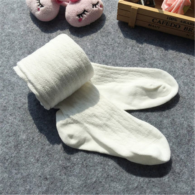 Girls Winter Knit Tights Kids Cotton Kids Pantyhose Warm Tights For Girls Solid Cute Cotton Children Stocking Autumn 70D0710